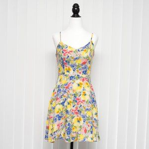 Everly Yellow Floral Spring / Summer Dress